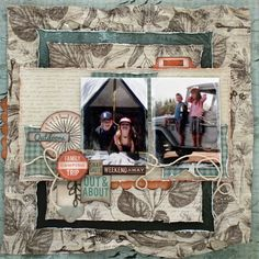 Kaisercraft - Outdoor Trail - Mistra Hoolahan Travel Scrapbook, Scrapbook Pages, Happy Birthday Cards, Clear Stamps, Scrapbooking Layouts, Paper Flowers, Trail, Paper Crafts, Prints