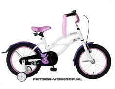 Meisjesfiets Fayefox Wit 16 Inch | bestel gemakkelijk online op Fietsen-verkoop.nl