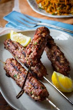 Grilled Lamb Kofta Kebabs on Healthy Seasonal Recipes grain free and paleo Loading. Grilled Lamb Kofta Kebabs on Healthy Seasonal Recipes grain free and paleo Lebanese Recipes, Greek Recipes, Meat Recipes, Indian Food Recipes, Paleo Recipes, Cooking Recipes, Grilled Recipes, Cooking Games, Cooking Classes