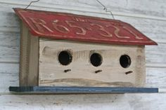 License Plate Birdhouse. The group said yes, they need a new home!!!!!