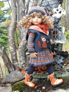 """~SEPTEMBER SQUIRREL! by Tuula fits 13"""" Effner Little Darling to a """"t""""!"""