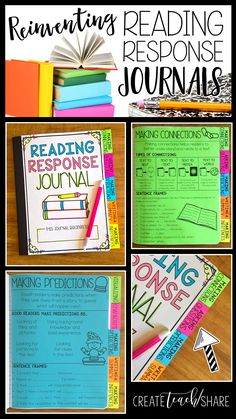 Reading Response Journal covers 10 different reading skills and strategies. Divider Tab for each skill or strategy, each with a built in Anchor Chart, also includes Mini Lessons to introduce each skill or strategy Reading Lessons, Reading Strategies, Reading Skills, Teaching Reading, Reading Comprehension, Guided Reading, Comprehension Strategies, Reading Charts, Reading Projects