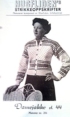 Husfliden 206 Drops Design, Knitting Patterns, Sweater Patterns, Knitting Ideas, Norwegian Knitting, Old Hollywood Glamour, Knit Jacket, Vintage Knitting, Vintage Posters