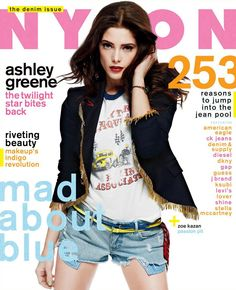 COVER: Nylon - USA - August  Ashley Greene in Moschino #moschino #nylon