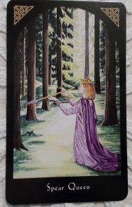 Arthurian Tarot - Queen of Wands - Botok Királynője Tarot kártya - Tarot tanfolyam indul 2018 őszén, részletek a blogon