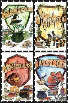 Slytherin, Hufflepuff, Gryffindor y Ravenclaw - Harry Potter - . - Slytherin, Hufflepuff, Gryffindor y Ravenclaw – Harry Potter – -