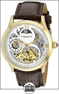 Stuhrling Original 571.3335K2 - Reloj automático, para hombre, con correa de cuero, color marrón de  ✿ Relojes para hombre - (Gama media/alta) ✿