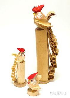 Sasano ittobori, Yonezawa, Yamagata .... made of wood by only one chisel 笹野彫り(山形県)