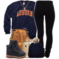 Auburn by oh-aurora on Polyvore featuring Helmut Lang, Timberland, MCM, Chanel and Topshop