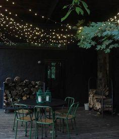 Dark leafy patio