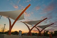 Award of Excellence Shade Structures West Mesa Park and Ride Tension Structures Classic Architecture, Landscape Architecture, Landscape Design, Fabric Structure, Shade Structure, What Is Interior Design, Membrane Structure, Tensile Structures, Outdoor Shade