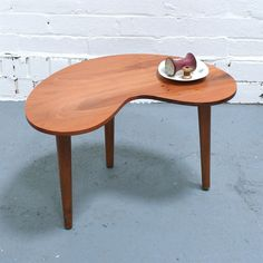 Amazing Vintage Kidney Shaped Table  I Really Need This Table!