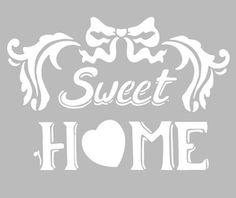 Pochoir Adhésif 30 x 20 cm SWEET HOME Stencil Patterns, Stencil Designs, Etiquette Vintage, Silhouette Portrait, Stencil Diy, Felt Dolls, Kirigami, Sweet Home, Silhouette Design