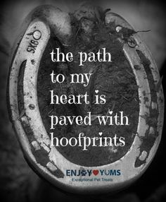 The path to my heart is definitely paved with hoofprints!!! :-)