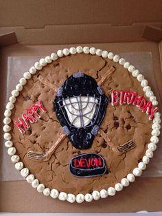 Hockey Cookie Cake