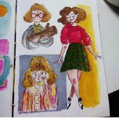 By @breezespacegirl #davidlynch #ilustration # #twinpeaks #twinpeaksart #characterdesign #character #series #showtime #forest #coffee #pie  #design #graphicdesign #poster #fanart #art #designinspiration #designporn #love #instagood #beautiful #cool