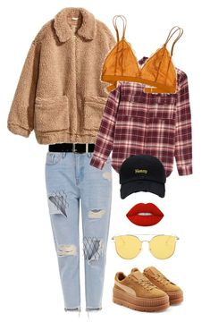 """""""Extra in mustard"""" by bjdanddd on Polyvore featuring Express, H&M, Billabong, Madewell, Puma and Lime Crime"""