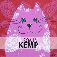 Roze rode kater by Sonja Kemp