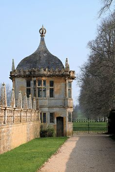 Summer House in walls around garden at Montacute House, Somerset