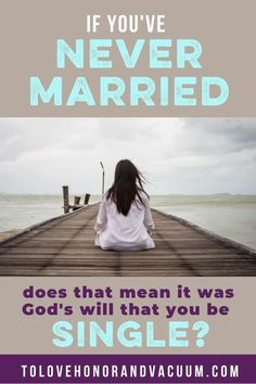 """If you've never been married, does that mean that it was always God's will that you would be single? I think we talk about that a lot–that people are """"called to singleness"""", as if God decides before you were born, """"Oh, I'm going to make sure that Jennifer doesn't get married."""" But I don't think that's always the case for someone who is still single later in life.  #christiansingle #biblicalwomen #tolovehonorandvacuum Never Married, Got Married, Biblical Marriage, Still Single, Christian Marriage, Young Love, Meant To Be, Bible, Relationship"""