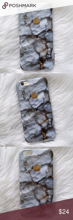 """gray gold marble apple iPhone 6/6s - 7 - Plus case •sizes:  iPhone 6/6s (4.7"""") iPhone 7 (4.7"""") iPhone 6 Plus (5.5"""") iPhone 7 Plus (5.5"""")  •flexible silicone   •phone not included   •no trades    *please make sure you purchase the correct size case. i am not responsible if you purchase the wrong size  item #: 61 B-Long Boutique  Accessories Phone Cases"""