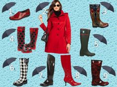 Get red hot for rainy day weather!