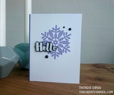 https://flic.kr/p/Q3UPDk | snowflake | Card I made for Ellen Hutson Mix it Up Challenge and CAS(e) this Sketch! #204. More info on my blog www.thecreatcorner.com/2017/01/snowflake-hello.htlm