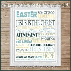Easter Subway Art {Resurrection} PRINTABLE | My Computer is My Canvas