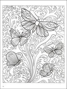 Abstract Coloring Pages | Beautiful Butterfly Designs Coloring Book | Additional photo (inside ...
