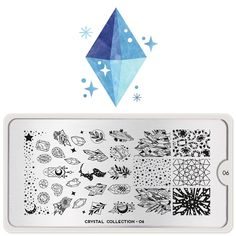 You will be able to create beautiful winter manicures filled with magical crystals, gems, minerals and snowflakes! Moyou Stamping, Stamping Nail Polish, Stamping Plates, Liquid Nail Tape, Liquid Nails, Frozen Snowflake, Image Plate, Nail Plate, Plastic Card