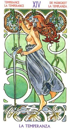 The Temperance - Art Nouveau Tarot Find out what Temperance means for you: www.tarotbyemail.com