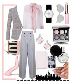 """""""City Law"""" by dezifashioncollection on Polyvore featuring Miss Selfridge, Gucci, ESCADA, Gianvito Rossi, Christian Dior, Elliott Chandler, Oliver Gal Artist Co., Chanel, Clarins and Kate Spade"""