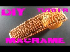 DIY - Tuto FR / Bracelet manchette en macramé - YouTube