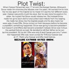 Caesar flickerman & effie trincket PLOT TWIST... Some people get really into trying to piece things that don't go together together
