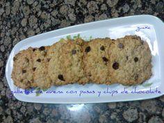 Galletas de Avena con pasas y chips   Cocinar en casa es facilisimo.com