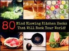 80 Mind Blowing Kitchen Hacks That Will Rock Your World @ the Homemade Home Ideas site :)