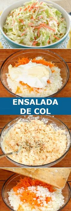 🔥Ensalada de Col Veggie Recipes, Appetizer Recipes, Real Food Recipes, Vegetarian Recipes, Cooking Recipes, Healthy Recipes, I Love Food, Good Food, Yummy Food