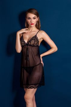 1560ba347a Aliexpress.com   Buy Lace Nightgown Robe Sexy Women Night Dress Set  Transparent Big Size