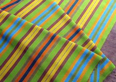 Guatemalan Fabric in Summertime Colors by Spanglishfabrics on Etsy