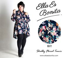 Shabby Floral Tunic - This tops features high quality rayon which specially designed for sophisticated curvy women originally made by Indonesian Designer & Local Brand: Ella Es Bonita. Available at www.ellaesbonita.com