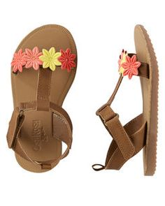 Toddler Girl OshKosh Multi-Flower Sandals from OshKosh B'gosh. Shop clothing & accessories from a trusted name in kids, toddlers, and baby clothes. Toddler Sandals, Toddler Girl Shoes, Kids Sandals, Baby Sandals, Baby Girl Shoes, Kid Shoes, Baby Boy Outfits, Girls Shoes, Toddler Stuff