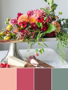 Shades of Pink for Fall | HGTV >> http://www.hgtv.com/design-blog/design/color-palettes-inspired-by-fall-produce?soc=pinterest