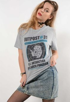Grey+'Outpost+31'+T-Shirt+(7730)