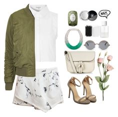 """Olive and White"" by itsmytimetoshinecoco ❤ liked on Polyvore featuring Glamorous, Monsoon, The Row, Chanel, Fresh, SUQQU, Forever 21, Topshop, women's clothing and women's fashion"