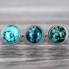 Round Turquoise Ring | Bohemian Gypsy Jewels | Indie and Harper