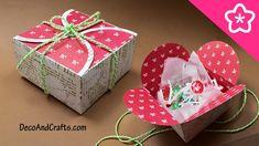 Cajita de regalo con cartulina para esta Navidad un sencillo y lindo det...