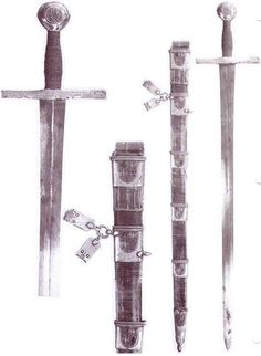 Sword from Toledo Cathedral, circa 1319    Records of the Medieval Sword, Oakeshott