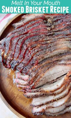 Create mouth watering Smoked Brisket on a wood or pellet smoker with simple techniques & delicious marinade, rub and wet mop recipes! My family has tested and perfected this recipe over the last three Grilled Brisket, Beef Brisket Recipes, Traeger Recipes, Smoked Meat Recipes, Grilling Recipes, Traeger Brisket, Smoked Brisket Rub, Beef Brisket Marinade Recipe, Recipe For Brisket