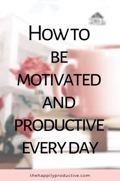 Do you want to be motivated and productive every day? Then this article is for you. Discover quick and easy ways to boost motivation and productivity! Self Development, Personal Development, Productivity Quotes, Productive Things To Do, How To Stop Procrastinating, Time Management Tips, Marketing, How To Stay Motivated, Getting Things Done