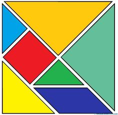 Tangram traditional chinese game consists of 7 pieces. Montessori Activities, Book Activities, Tangram Printable, Abc Preschool, Fun Worksheets For Kids, Tangram Puzzles, Funky Fonts, Teachers Toolbox, Homeschool Math